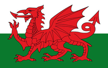 flag of wales original Standard-Bild