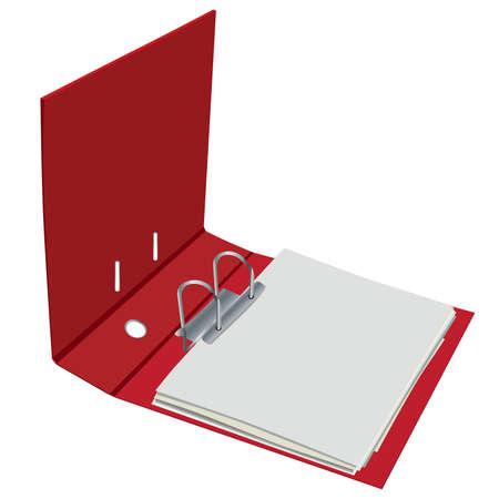 bookkeeping: cuaderno abierto rojo Vectores