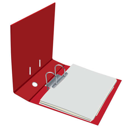 red open binder Vector