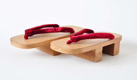 pair of of traditional japanese geisha shoes