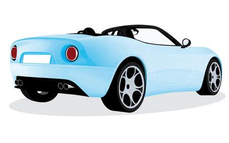 racing cars: original roadster car design Illustration