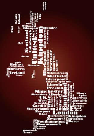 edinburgh: abstrakte Karte von Gro�britannien