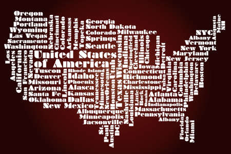 abstract map of usa Stock Vector - 12075787