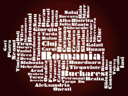 romania: abstract map of Romania