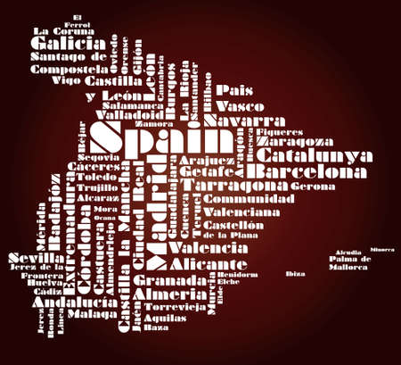 bilbao: abstract map of Spain