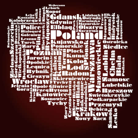 abstract map of Poland Vector