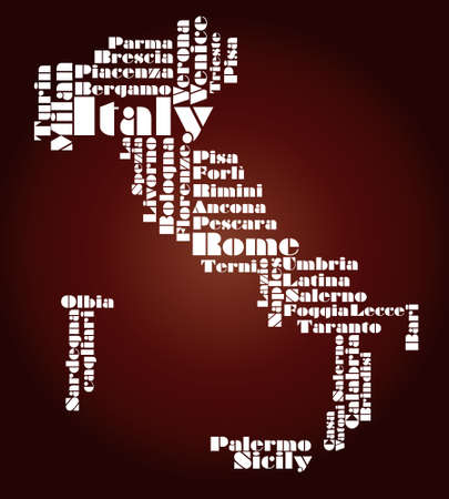 florence: abstract map of Italy