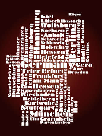 hamburg: abstract map of Germany Illustration