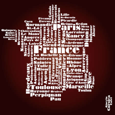 corsica: abstract map of France Illustration