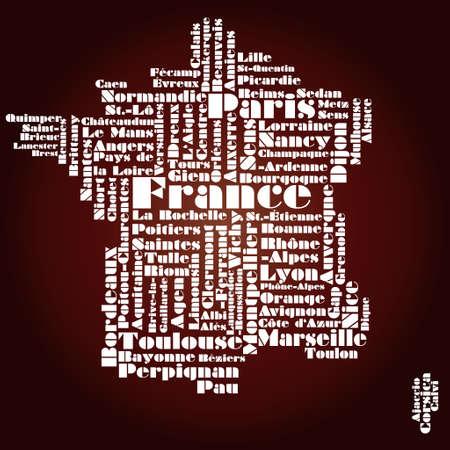 francia: resumen de mapa de Francia