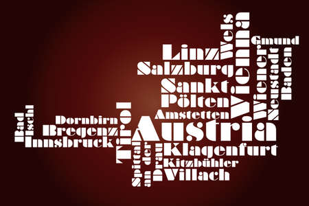 abstract map of Austria Vector