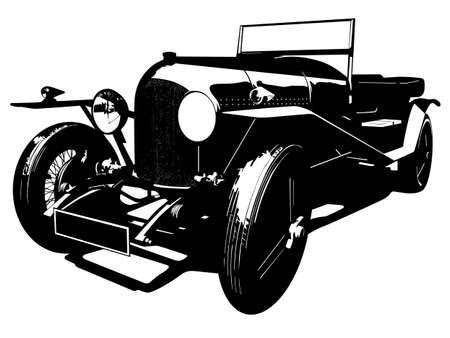 vintage car illustration Vector