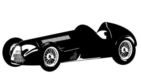 vintage car illustration Vector