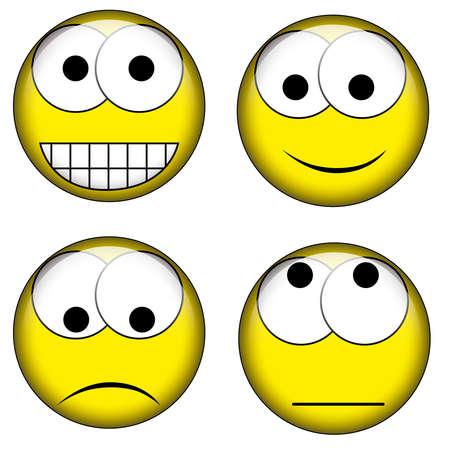 set of smileys Stock Vector - 12196842