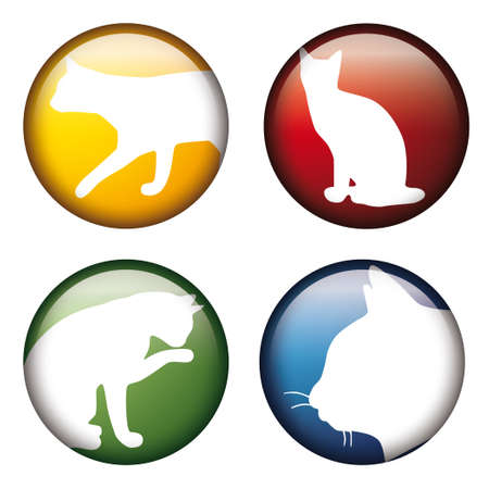button with car silhouettes Vector