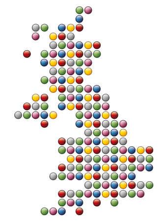 shetlander: abstracte kaart van Verenigd Koninkrijk Stock Illustratie