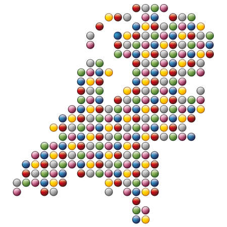 abstract  map of Holland Illustration