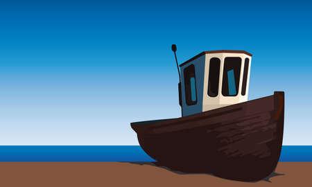 wharf: small fishing boat