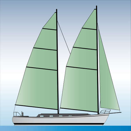 sailboat illustration Vector