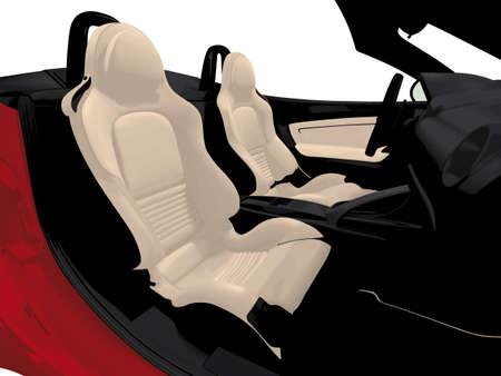 convertible car: luxury convertible car interior Illustration