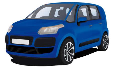 family van: modern family car Illustration