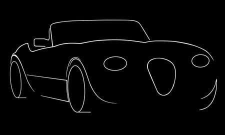 sports car silhouette Illustration