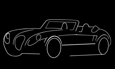 stealth: sports car silhouette Illustration