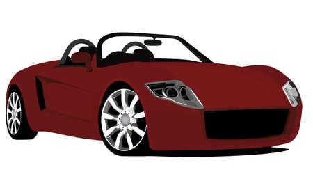 convertible car: prototipo de auto convertible Vectores