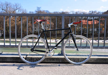 singlespeed fixie bike in Munich, Germany Stock Photo