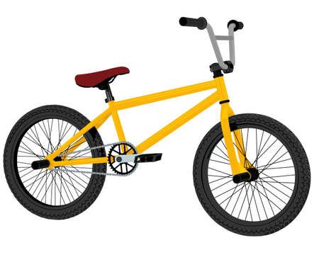 moto da cross: bicicletta bmx Vettoriali