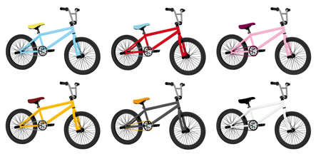 pedaling: bmx bicycles Illustration