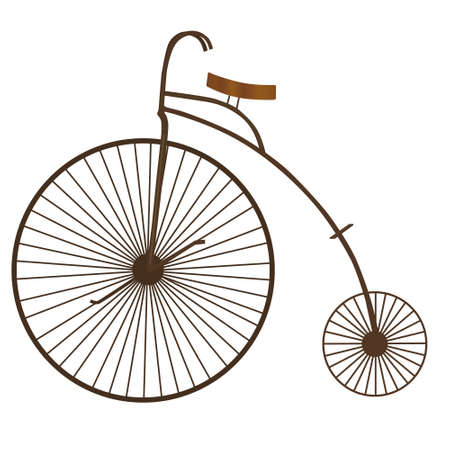 old vintage bicycle Vector