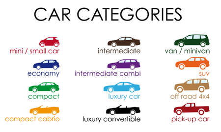 car categories Vector