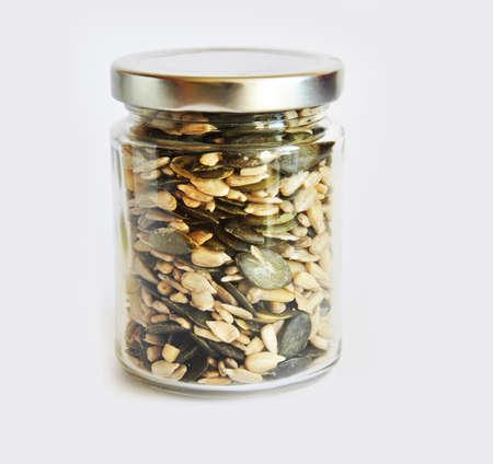 jar with grain photo
