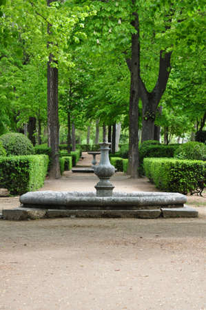 historica: Garden in the Royal Palace of Aranjuez, Madrid, Spain