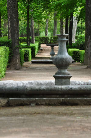 garten: Garden in the Royal Palace of Aranjuez, Madrid, Spain