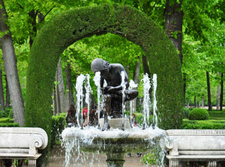 Garden in the Royal Palace of Aranjuez, Madrid, Spain