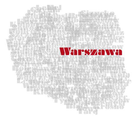 Abstrait carte de la Pologne Banque d'images - 13745537