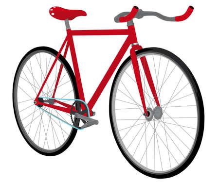clavados: bicicleta de piñón fijo Vectores