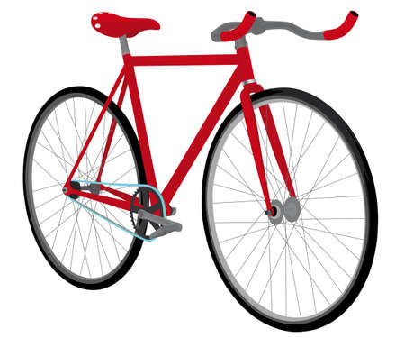 fixed gear bicycle Stock Vector - 14043436