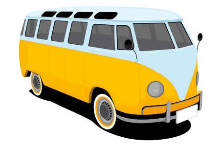 transporter: vintage car illustration