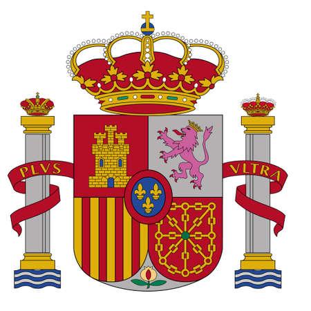 flag spain: coat of arms of Spain