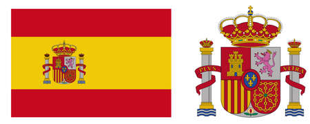 flag of spain: coat of arms of Spain