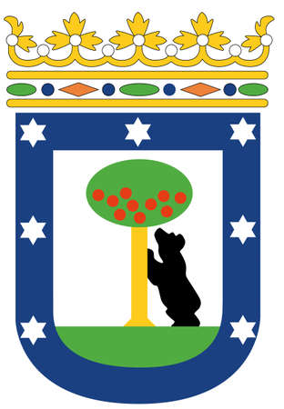 coat of arms of Madrid, Spain Vector