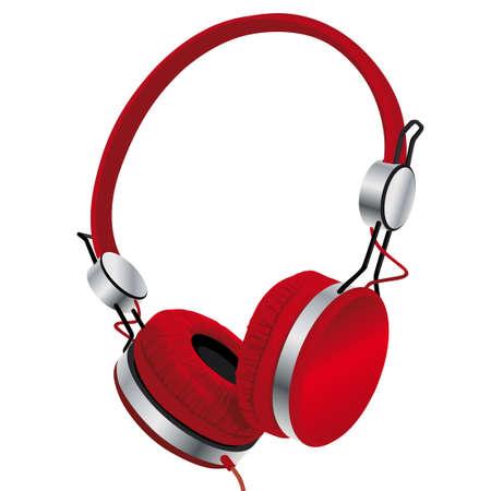 headphones isolated on white background Illustration