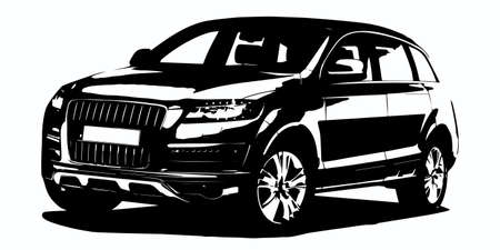 suv: modern car silhouette Illustration