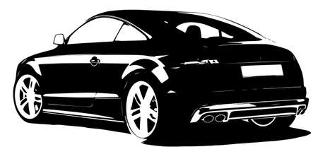new motor car: modern car silhouette Illustration