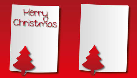paper with christmas tree background  Vector
