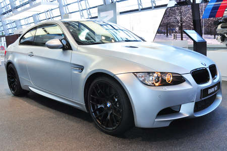 MUNICH, DECEMBER 11  BMW M3 Coupe at BMW Car Show on December 11, 2012 in Munich, Germany