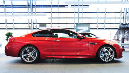 MUNICH, DECEMBER 11  BMW M6 Coupe at BMW Car Show on December 11, 2012 in Munich, Germany